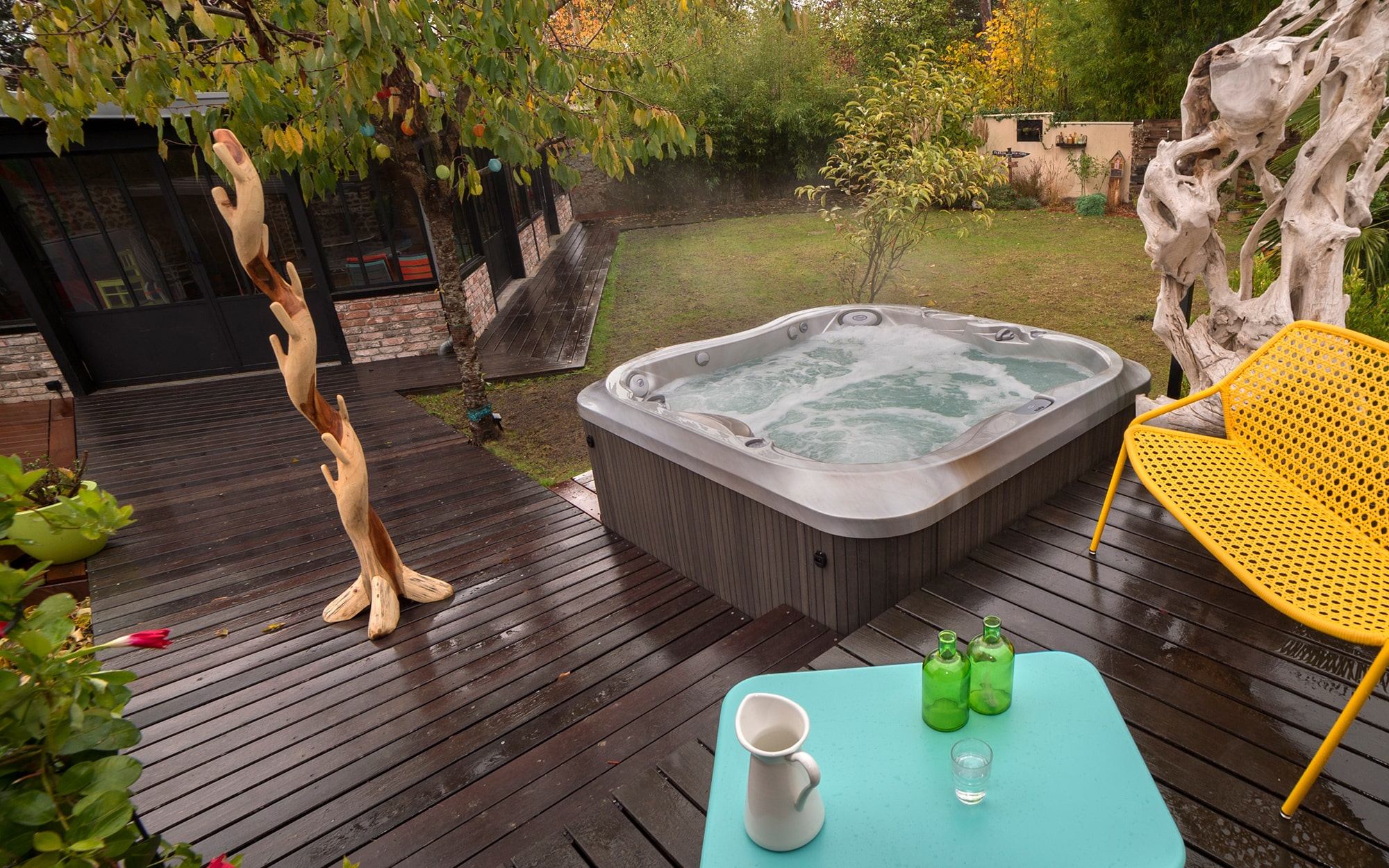 Jacuzzi Hot Tubs Backyard Installation